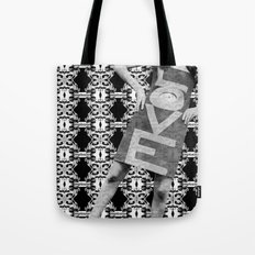 LOVE implosion #9 Tote Bag