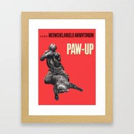 Paw-Up Framed Art Print
