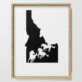 Idaho Appaloosa Horse Lover Nez Perce Black Serving Tray