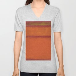 1961 Orange, Red, Yellow Unisex V-Neck