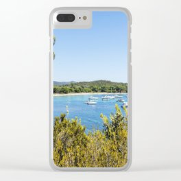 Seacoast of Cap Benat near Le Lavandou and Bormes-les-Mimosas in French Riviera Clear iPhone Case