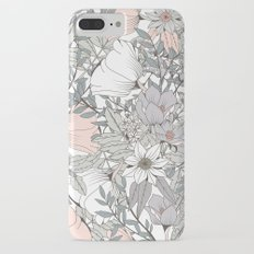 Seamless pattern design with hand drawn flowers and floral elements iPhone 7 Plus Slim Case