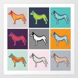 Colour Pop Dogs Art Print