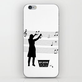 making more music iPhone Skin