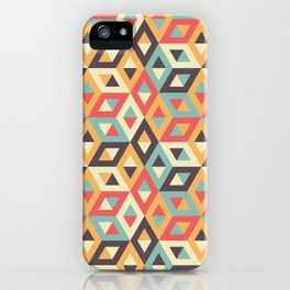 Pastel Geometric Pattern iPhone Case