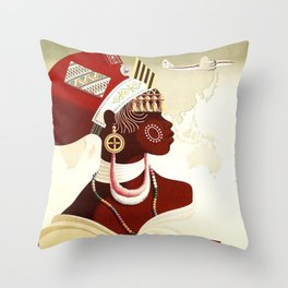 Vintage poster - South Africa Throw Pillow
