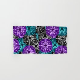 Dahlia Multicolored Floral Abstract Pattern Hand & Bath Towel
