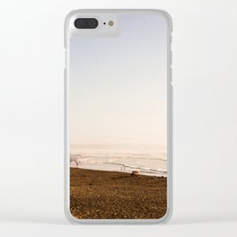 By the beach Clear iPhone Case
