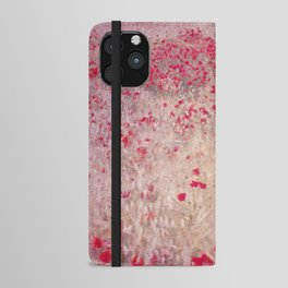 Fields of poppies iPhone Wallet Case