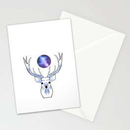 Galaxy Deer Stationery Cards