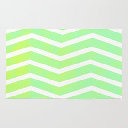 Patterned Chevron (Lime) Rug