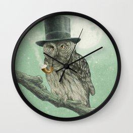 Night Smoke (Color Option) Wall Clock