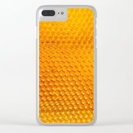 honeycomb pattern Clear iPhone Case