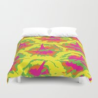 preppy Duvet Covers featuring Preppy Pineapple by Kristin Seymour