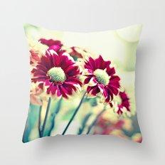 Raspberry Bokeh Throw Pillow