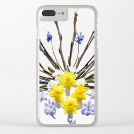 Spring flowers and branches I Clear iPhone Case