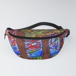 An Eerie Night form my memory || Abstract landscape painting Canvas Print Fanny Pack