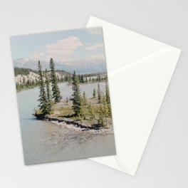 blue river winding Stationery Cards