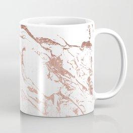 Modern chic faux rose gold white marble pattern Coffee Mug