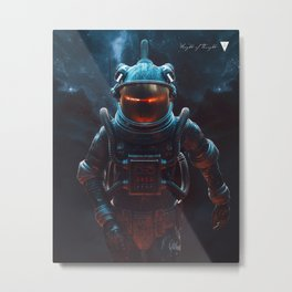Weight Of Thought - WOTstranaut Metal Print