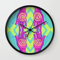 wreck it ralph Wall Clocks featuring Wreck by Breezaux