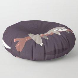 Sloth card - good night Floor Pillow