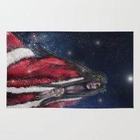 santa Area & Throw Rugs featuring Santa by Sharon VA