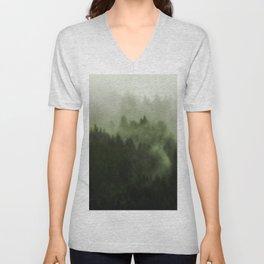 Drift - Green Mountain Forest Unisex V-Neck
