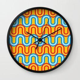 Neon Tubes Wall Clock