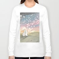 fairies Long Sleeve T-shirts featuring Sunset Fairies by Bluedogrose