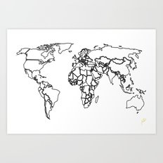 Sovereign Map Art Print