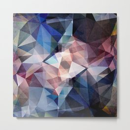 Textured Triangle Abstract Metal Print