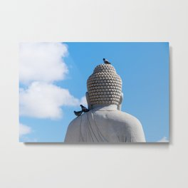 Buddha and the birds Metal Print