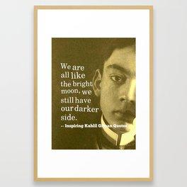 Most Inspiring Kahlil Gibran Quotes - 13 Framed Art Print