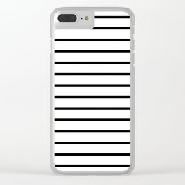 Black Stripe Pattern Clear iPhone Case