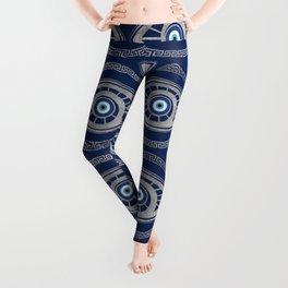 Greek Mati Mataki - Matiasma Evil Eye Pattern #5 Leggings