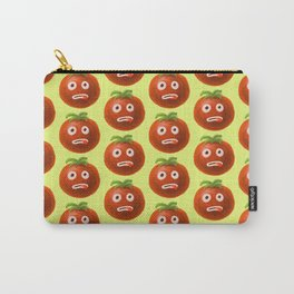 Funny Cartoon Tomato Pattern Carry-All Pouch