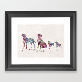 Labrador family Framed Art Print