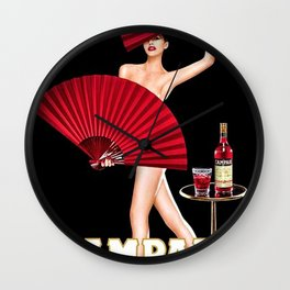 Vintage Bitter Campari Lithograph Advertisement Wall Clock