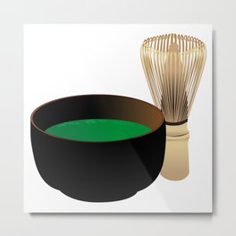 Japanese maccha tea Metal Print