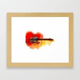 Watercolor guitar Framed Art Print
