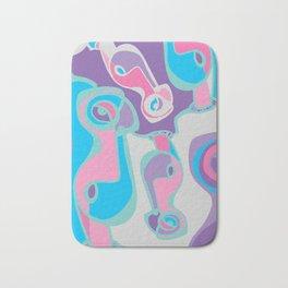pink purple blue jordan eismont drawing drool rework digital collage Bath Mat