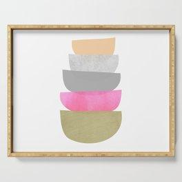 Balance, Mid Century Modern Art Serving Tray