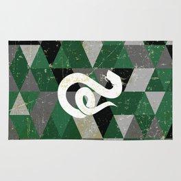 Slytherin House Pattern Rug
