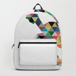 Colorful Geometric Turtle Backpack