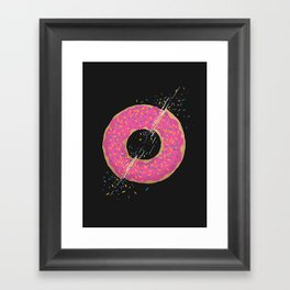 Donut Slices Framed Art Print