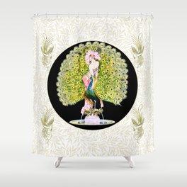 Art Deco Diva Rivalry Shower Curtain