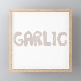 GARLIC Framed Mini Art Print