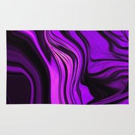 Purple Abstract Desgn Artwork Rug