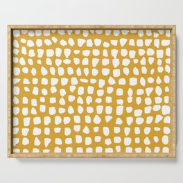 Dots / Mustard Serving Tray